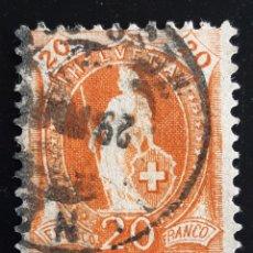 Sellos: SUIZA , YVERT 93. Lote 195453407