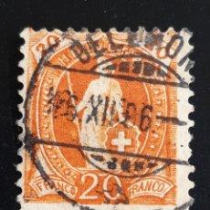 Sellos: SUIZA , YVERT 93. Lote 195453455