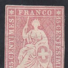 Sellos: SUIZA, 1854-62 YVERT Nº 28 (*). Lote 196119990