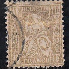 Sellos: SUIZA, 1862 YVERT Nº 41. Lote 196129181