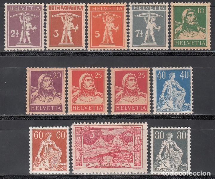 SUIZA, 1917-22 YVERT Nº 157 / 167 /*/ (Sellos - Extranjero - Europa - Suiza)