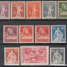 Sellos: SUIZA, 1917-22 YVERT Nº 157 / 167 /*/ . Lote 196157457