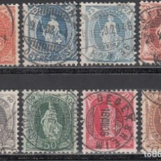 Timbres: SUIZA, 1905-06 YVERT Nº 93 / 99 . Lote 196162608