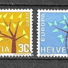Sellos: SUIZA,1962,EUROPA,YVERT 698-699,USADOS. Lote 198477067