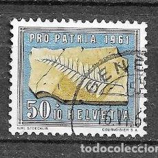 Sellos: SUIZA,1961,PRO PATRIA,YVERT 681,USADOS. Lote 198477675