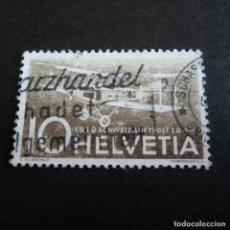 Sellos: SUIZA 1944, ZUMSTEIN AEREO Nº 37, DH3 HAEFELI, MATASELLADO. Lote 204713851