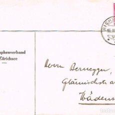 Sellos: SUIZA. SOBRE CIRCULADO CON SELLO DEL FERROCARRIL JUNTO AL CASTILLO DE C EL 14-11-1939 (VER DETALLE). Lote 206141491