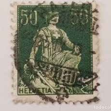 Sellos: SUIZA 1908 50C. Lote 206208000