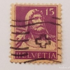 Sellos: SUIZA 1914 GUILLERMOTELL 15C. Lote 206209700