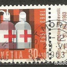Sellos: SUIZA - CENTENARIO DE LA CRUZ ROJ 1963 DE LA SERIE POR PATRIA CON BORDE LATERAL. Lote 206323768