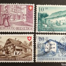 Sellos: SUIZA, N°42/45 USADA, PRO-PATRIA 1949 (FOTOGRAFÍA). Lote 206336885