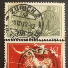Sellos: SUIZA, CONMEMORATIVOS DE LA PA, 1919, USADOS (FOTOGRAFÍA REAL). Lote 206352271