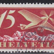 Sellos: SUIZA 1923-33 SELLO USADO CON PAPEL CON FRAGMENTOS DE HILOS DE SEDA YVERT Nº A3 AÉREO. Lote 206559287