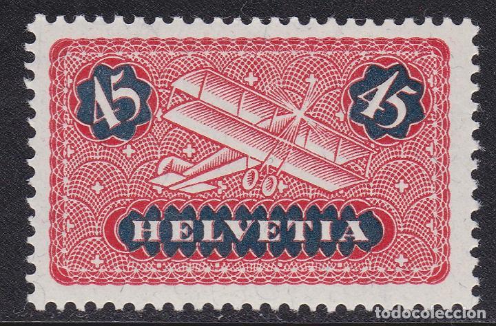 SUIZA 1923-33 SELLO NUEVO SIN FIJASELLOS CON PAPEL CON FRAGMENTOS DE HILOS DE SEDA YVERT Nº A8 AÉREO (Sellos - Extranjero - Europa - Suiza)