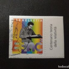 Sellos: SUIZA 2005. ALBERT EINSTEIN (1879-1955) MI:CH 1910, (126). Lote 207042363