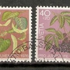 Sellos: SUIZA.1976. YT 1013/1016.FLORA. Lote 207067483