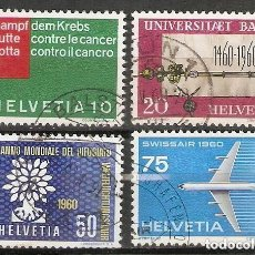 Sellos: SUIZA.1960. YT 639/642. Lote 207067792