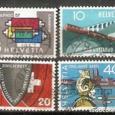 Sellos: SUIZA.1957. YT 586/589. Lote 207069018