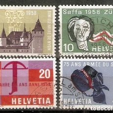 Sellos: SUIZA.1958. YT 602/605. Lote 207070700