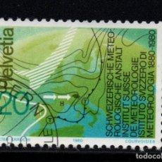 Sellos: SUIZA 1114 - AÑO 1980 - CENTENARIO DEL INSTITUTO SUIZO DE METEOROLOGIA. Lote 234141295