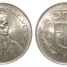 Sellos: SUIZA - 5 FRANCOS DE PLATA DE 1965, CIRCULANTE. Lote 210552577