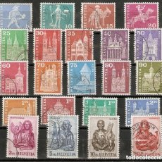Sellos: SUIZA.1960-63 YT 643/660F. Lote 210830980
