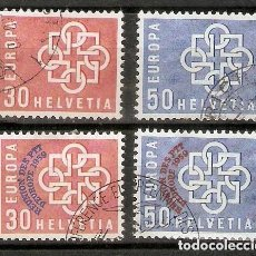 Sellos: SUIZA.1959. YT 630/633. Lote 210831475