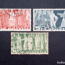 Sellos: SELLOS DE SUIZA 1938, SERIE HISTORICA. Lote 212502056