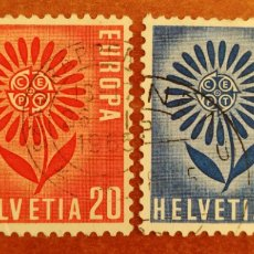 Sellos: SUIZA, EUROPA CEPT 1964 USADOS (FOTOGRAFÍA REAL). Lote 212505036