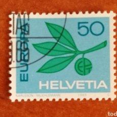 Sellos: SUIZA, EUROPA CEPT 1965 USADA (FOTOGRAFÍA REAL). Lote 212579806