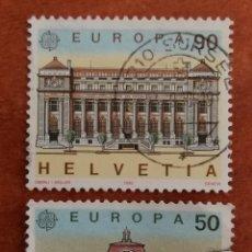 Sellos: SUIZA, EUROPA CEPT 1990 USADO (FOTOGRAFÍA REAL). Lote 213731547
