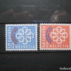 Sellos: SUIZA 1959 SERIE CONFERENCIA POSTAL MNH** SIN CHARNELA LUJO! VALOR 40€!. Lote 214434646