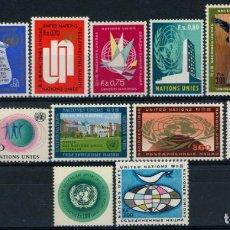 Sellos: NACIONES UNIDAS GINEBRA 1969-70 IVERT 1/14 ** SERIE BÁSICA - SEDE EN GINEBRA. Lote 216962843