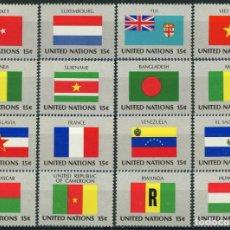 Sellos: NACIONES UNIDAS NUEVA YORK 1980 IVERT 316/31 *** BANDERAS ESTADOS MIEMBROS DE NACIONES UNIDAS (I). Lote 216966731