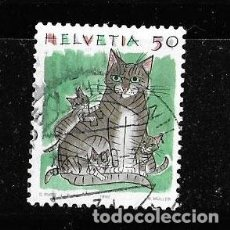 Timbres: 1990 SUIZA. ANIMALES: GATO. Lote 217863093
