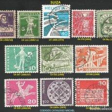 Sellos: SUIZA 1899 A 1974 - LOTE VARIADO (VER IMAGEN) - 11 SELLOS USADOS. Lote 218013261