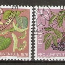 Sellos: SUIZA.1976. YT 1013/1016. FLORES. FLORA. Lote 218489485