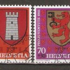 Sellos: SUIZA.1981. YT 1139/1142. ESCUDOS. Lote 218491128