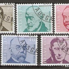 Sellos: SUIZA.1971. YT 886/890. Lote 218491270