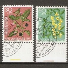 Sellos: SUIZA.1974. YT 972/975. FLORES. FLORA. Lote 218491747