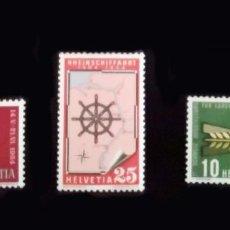 Sellos: SUIZA 1954. SERIE DE CONMEMORACIONES NUEVOS. Lote 218520575