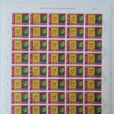 Sellos: MINIPLIEGO DE 50 SELLOS SUIZA NABA 1971 – EXPOSICIÓN NACIONAL DE FILATELIA BALE. Lote 219038445