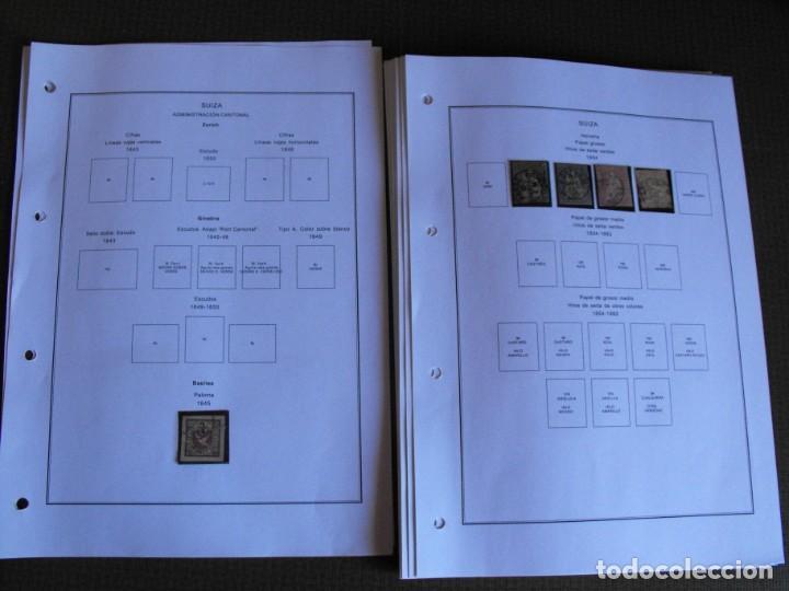 Sellos: Suiza. Álbum y cuaderno con hojas. 1843-1998. Todo en las fotos. - Foto 5 - 219513556