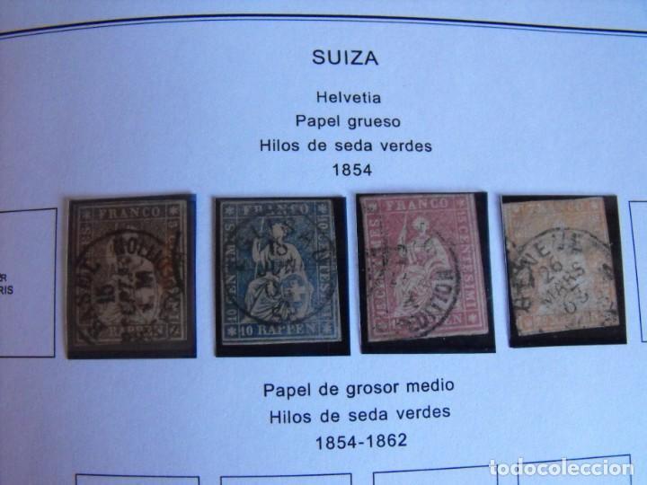 Sellos: Suiza. Álbum y cuaderno con hojas. 1843-1998. Todo en las fotos. - Foto 8 - 219513556