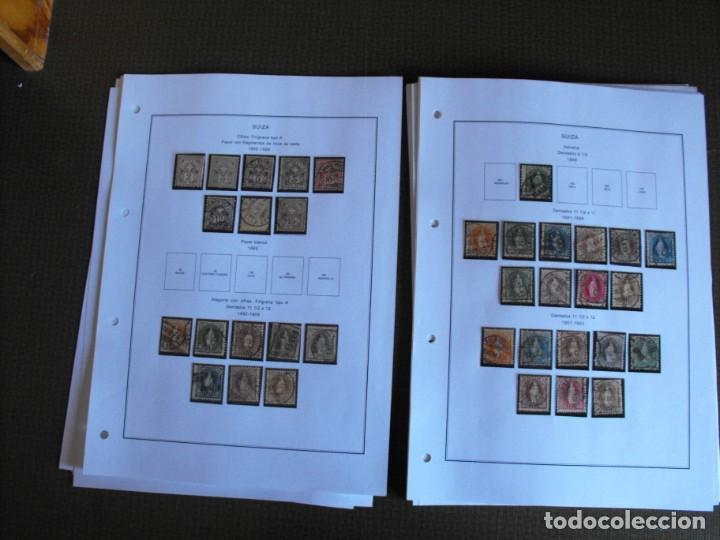 Sellos: Suiza. Álbum y cuaderno con hojas. 1843-1998. Todo en las fotos. - Foto 10 - 219513556