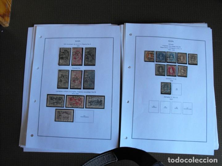 Sellos: Suiza. Álbum y cuaderno con hojas. 1843-1998. Todo en las fotos. - Foto 11 - 219513556