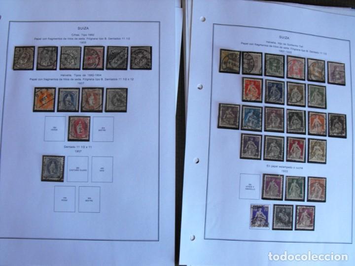 Sellos: Suiza. Álbum y cuaderno con hojas. 1843-1998. Todo en las fotos. - Foto 12 - 219513556