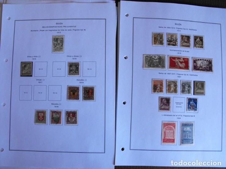 Sellos: Suiza. Álbum y cuaderno con hojas. 1843-1998. Todo en las fotos. - Foto 14 - 219513556