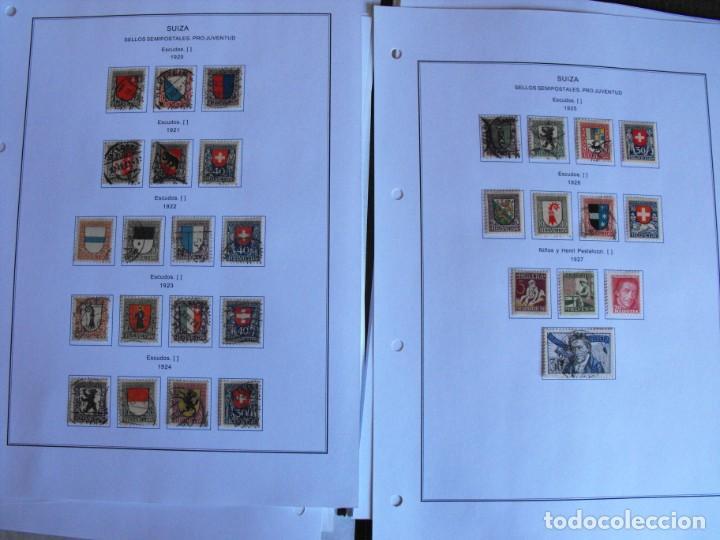 Sellos: Suiza. Álbum y cuaderno con hojas. 1843-1998. Todo en las fotos. - Foto 15 - 219513556