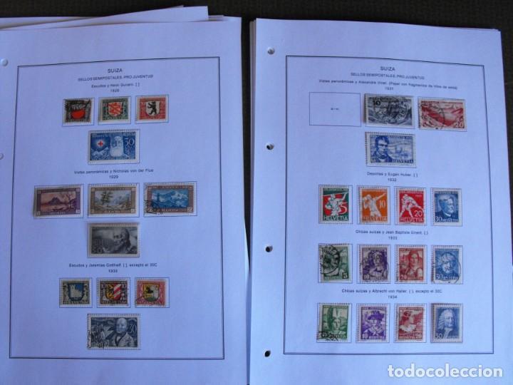 Sellos: Suiza. Álbum y cuaderno con hojas. 1843-1998. Todo en las fotos. - Foto 16 - 219513556